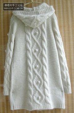 长风衣 - Elica Karadjova - Picasa Web Albums Ladies Cardigan Knitting Patterns, Knit Cardigan Pattern, Knitting Patterns Free, Knit Patterns, Pull Torsadé, Knitted Cape, Sweater Coats, Knitting Designs, Cardigans For Women