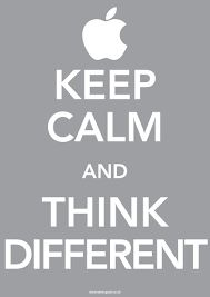 Keep Calm and Think Different . Like Steve Jobs Was Different, Go Invent Something and Keep Calm :) Job Quotes, Life Quotes Love, Qoutes, Office Quotes, Keep Calm Posters, Keep Calm Quotes, The Words, Dale Carnegie, Keep Calm And Love
