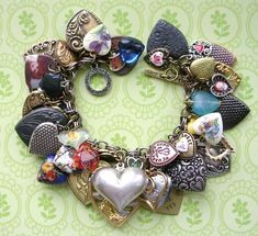 Charm Bracelet Hearts Flickr The Vintage Heart