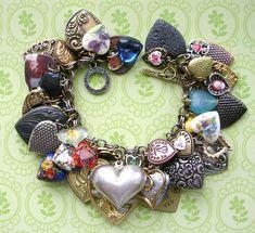 Charm Bracelet Hearts Flickr The Vintage Heart