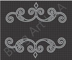 Border Embroidery Designs, Embroidery Patterns, Bead Embroidery Jewelry, Beaded Embroidery, Painted Initials, Rhinestone Crafts, Bling Wallpaper, Ballroom Jewelry, Rangoli Designs Diwali