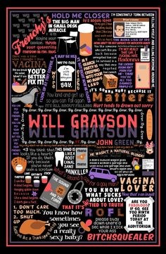 Enamoured with collages, POSTRAVAGANZA! Here are some John Green book...