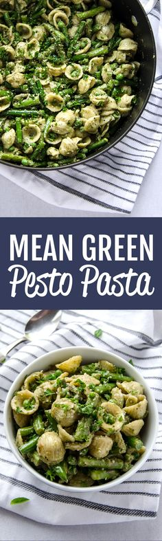 Pasta with Green Beans and Pesto | Recipe | Green Beans, Pasta and ...