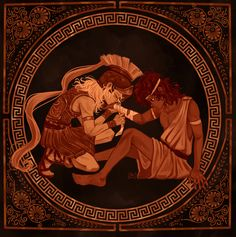 Percy Jackson, Achilles And Patroclus, Film Anime, Greek Mythology Art, Fanart, Legends And Myths, Greek Art, Greek Gods, Gods And Goddesses