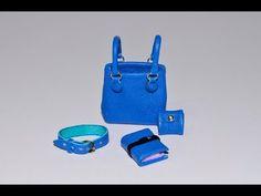 Video Workshop: aus Leder Tasche Notizbuch Geldbörse Geldbeutel Lederband Women's Accessories - handbag, purse, belt, notebook (miniature doll). - YouTube
