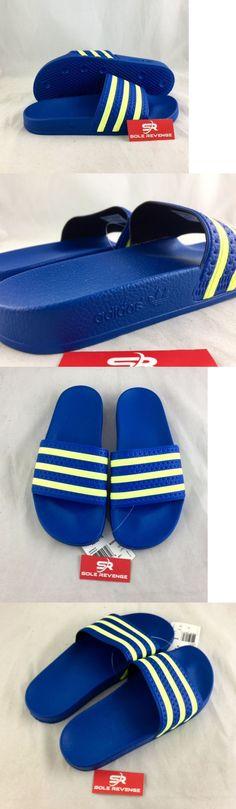 b608d6a03 Sandals and Flip Flops 11504  New Adidas Adilette Slides Sandals Mens Blue  Yellow Beach Flip Flops B35626 -  BUY IT NOW ONLY   45.99 on eBay!