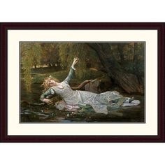 Global Gallery 'Ophelia' by Alexandre Cabanel Framed Painting Print Size: