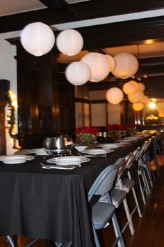 New years Eve Dinner party decor - different chairs and this would be perfect!