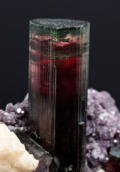 Tourmaline with Lepidolite and Albite from Brazil
