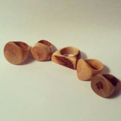 I cut down a dead apple tree recently. I have been making rings and spoons out of some of the wood that is already dry.  Apple is a incredibly hard dense wood that burns really really easy.  Keep the power tools on the lowest setting.