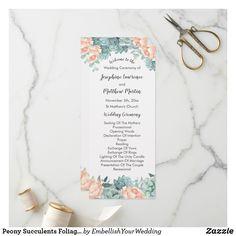 Shop Modern Pink Blush Tropical Floral Wedding Program created by TwoSonsPaperCo. Order Of Wedding Ceremony, Wedding Ceremony Programs, Beach Ceremony, Botanical Wedding, Floral Wedding, Wedding Blush, Wedding Simple, Navy Blush Weddings, Modern Wedding Program