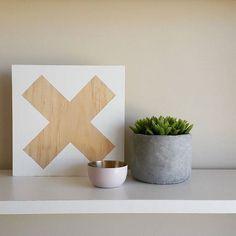 """New X Parque 19 × 19 cm. $15  #woodandweaveco #wood #timber #cross #white #shelfie"" Photo taken by @woodandweaveco on Instagram, pinned via the InstaPin iOS App! http://www.instapinapp.com (10/18/2015)"