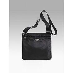 prada vela nylon messenger bag black