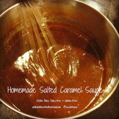 Oooh Gooey Salted Caramel Sauce Perfect on top of Bundt cake  #Paleo & #Glutenfree