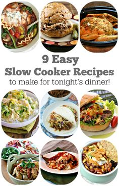 9 Easy Slow Cooker Recipes to Make for Tonight's Dinner