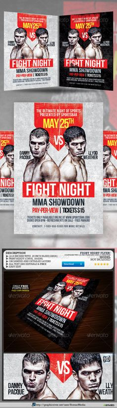Mma/Ufc/Box Showdown And Training Flyerspromote Your Mma / Ufc