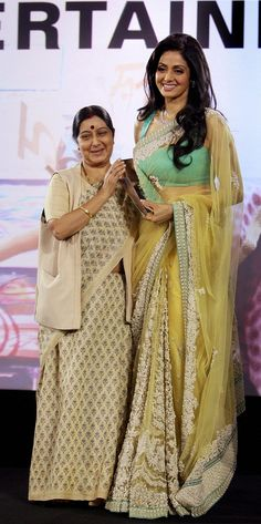 Fashion: Sridevi In Designers Saree 2013