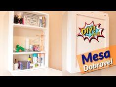 DIY: Como fazer um lindo nicho com prateleiras para organizar a casa - YouTube