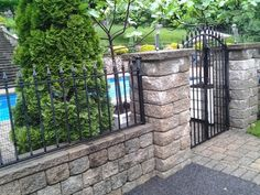 pool fence with gate - Google Search