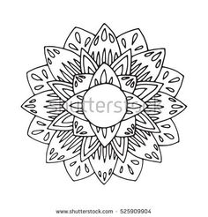 Creative mandala for coloring book and adults.
