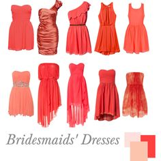 Bridesmaids' Dresses | Coral