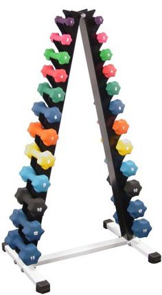 Awesome Neoprene Dumbbell Set- 12 Pairs w/ Rack