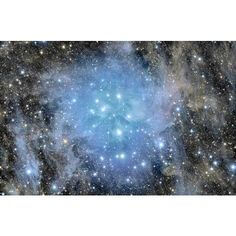 APOD: 2011 September 21 - Pleiades Deep Field ❤ liked on Polyvore featuring backgrounds, pictures, blue, space, photos and filler