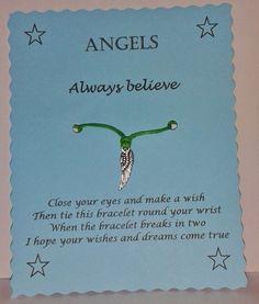 Gift * Follow Your Dreams Wish Bracelet Friendship Job Lot Wholesale
