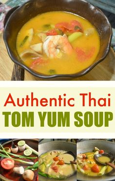 Authentic Thai Tom Yum Soup Recipe — I brought this recipe back from Thailand and it's 100% legit! Could be made vegetarian. The sauce for this is incredible, I'm sure the whole family would love it for dinner. Why not have Papaya Salad as a side dish to power up this healthy meal.