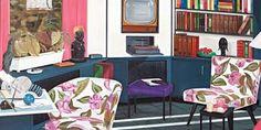 Graham Fletcher's 'Lounge Room Tribalism' Auckland Art Gallery, Visit New Zealand, Graham, Corner Desk, Digital Prints, Lounge, Room, Artists, Inspiration