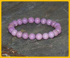 8mm Phosphosiderite Bracelet, AA Grade, Healing Lilac Gemstone Stretch Bracelet, Gemstone Bracelet, Handmade Jewelry, Gemstone Jewelry - Wedding bracelets (*Amazon Partner-Link)