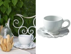 Wave Cup and Saucer, Set of Four - NetDeco.co.uk