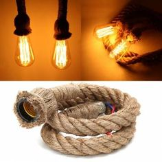 Only US$9.99, buy best 1M Vintage Retro Rope Pendant Light Loft Creative Industrial Lamp For Living Room AC 90-260V sale online store at wholesale price.US/EU…