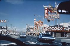 Las Vegas Strip 1968 www.all-chips.com has chips from all these places.  A Drive up the strip in '68 #3