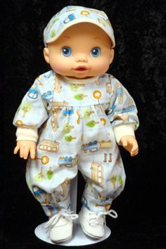 Boys Beep Beep Jumper fits Baby Alive Wets 'N Wiggles Doll Baby Alive Doll Clothes, Baby Alive Dolls, Doll Outfits, Sams, Jumper, Onesies, Jumpers, Rompers, Sweater