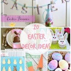 20 DIY Easter Decor Ideas...so many cute ideas!