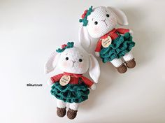 Crochet Doll Pattern, Crochet Bunny, Crochet Toys Patterns, Crochet Animals, Stuffed Toys Patterns, Doll Patterns, Crochet Ideas, Yarn Sizes, Crochet Hook Sizes