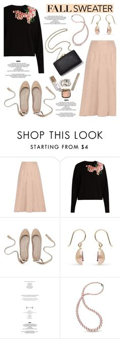 """""""Cozy Fall Sweaters"""" by littlehjewelry on Polyvore featuring Valentino, Dolce&Gabbana, StyleNanda, contestentry, fallsweaters, pearljewelry and littlehjewelry"""