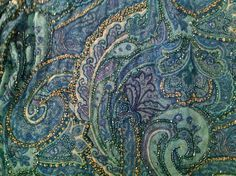 Bohemian Beads on Paisley Silk by Carmen Marc Valvo