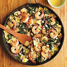 Warm Pasta Salad with Shrimp Recipe | CookingLight.com