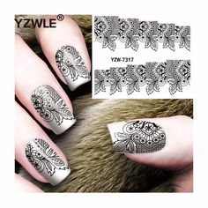 [Visit to Buy] YZWLE 1 Sheet DIY Decals Nails Art Water Transfer Printing Stickers Accessories For Manicure Salon  YZW-7317 #Advertisement