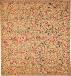 Ottoman Embroidery (Turkey 18th C) An endless array of radiating flowerheads ripple across the silken surface of this elegant antique embroidery.