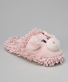 Take a look at this Pink Pig Open-Back Slippers - Women by Capelli New York on #zulily today!