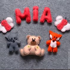 Купить Именное колечко из фетра - разноцветный, фетр, изделия из фетра, игрушки из фетра, декор детской