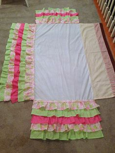 A Little Bolt of Life: DIY Ruffled Crib Skirt