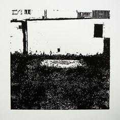 Veľkomoravská 2164-30 [printmaking, cutting into MDF] #printmaking #woodcut #bunker #art #shelters