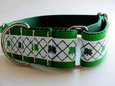 Irish Dog Collar Martingale 15 wide Sight Hound by CollarHabit, $25.00