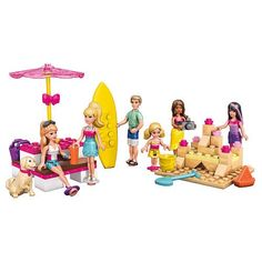 Fashion Doll: Mega Bloks Barbie Beach Day Building Set ** Want additional info? Click on the image.