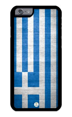 iZERCASE iPhone 6 PLUS, iPhone 6S PLUS Case Greece Greek Flag Design RUBBER CASE - Fits iPhone 6 PLUS, iPhone 6S PLUS T-Mobile, Verizon, AT&T, Sprint and International. COLOR OPTIONS: Our rubber cases come in black and white options as shown in pictures a