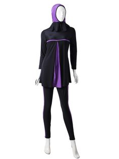 2016 Modest Islamic Swimsuit Women Conservative Hijab Swimwear Full Coverage Bathing Suit Muslim Swimming Wear Female Beachwear